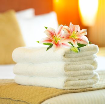 Clean towels hotel